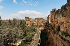 Outer view of Baalbek showing the different walls