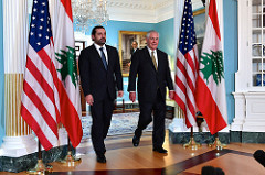Secretary Tillerson and Lebanese Prime Minister Hariri Prepare to Address Reporters Before Their Meeting in Washington