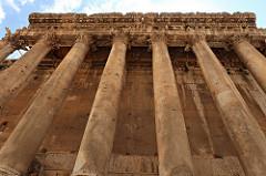 Temple of Bacchus Pillars up close, Baalbek