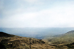 Early October 1941 - View from Dahr-el-Baidar Pass towards the Beqaa Valley & Anti Lebanon Mountains in Syria (now Lebanon - colorized version)