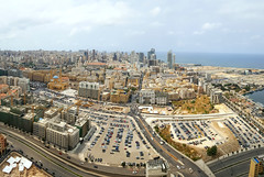Aerial view over Beirut, Lebanon