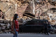 Libanon: Caritas-Helferin nach der Explosion in Beirut