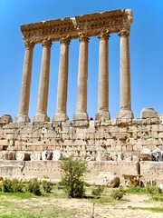 Temple of Bacchus in Baalbeck Lebanon