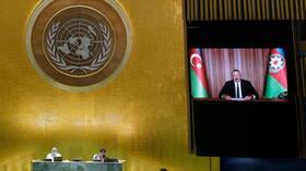 من منبر الأمم المتحدة.. رئيس أذربيجان يؤكد تسوية النزاع في قره باغ