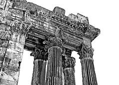 Lebanon, Baalbek, temple of Bacchus, detail